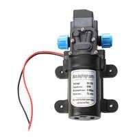 Black DC 12V 60W high-pressure mini membrane water pump automatic shutdown 5L / min