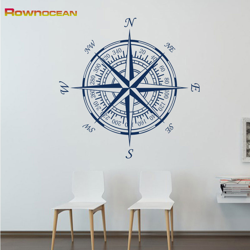 Us 5 41 21 Off Customized Color Wall Stickers For Kids Rooms Art Nautical Home Decor Comp Vinyl Muraux Removable Mural Bedroom C 06 In