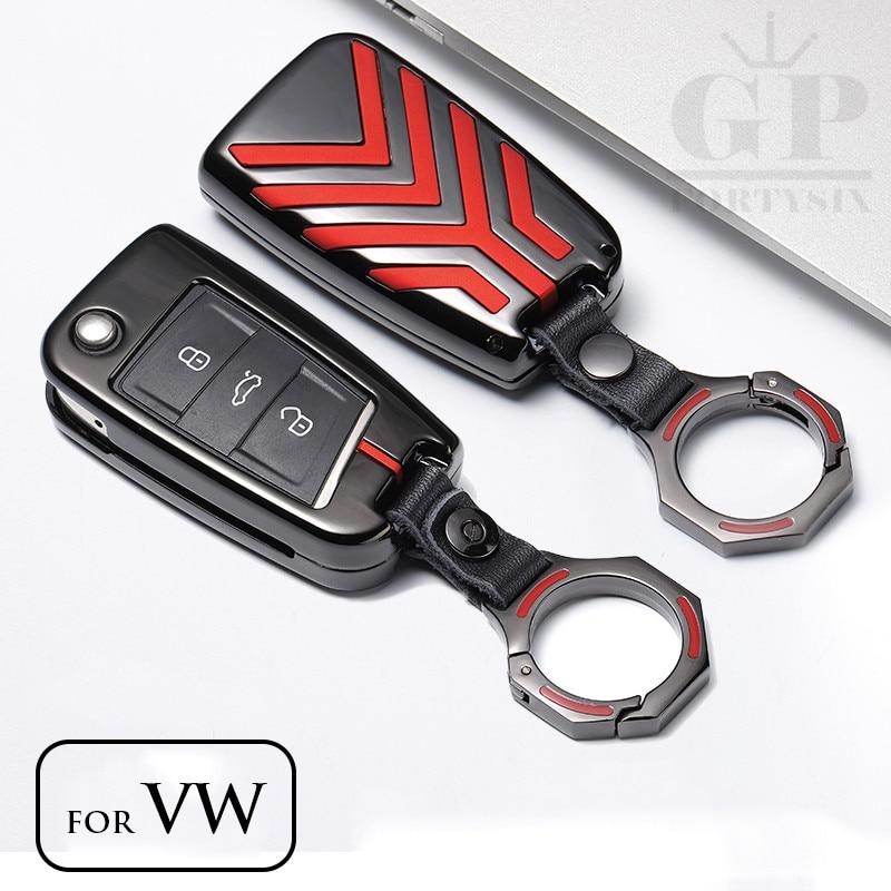 Zinc Alloy Car Key Case Key Bag Cover For Volkswagen Golf 7 MK7 Tiguan Touran 2017 For Skoda Octavia A7 RS For Seat Leon Ibiza наклейки vw volkswagen passat touran seat ibiza skoda octavia fabia 3