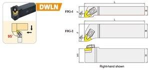 Image 2 - DWLNR/DWLNL2020K08/2525M08/3232P08 torneado externo portaherramientas de corte DWLNR uso Inserto de Carburo de Tungsteno WNMG080408/WNMG080404