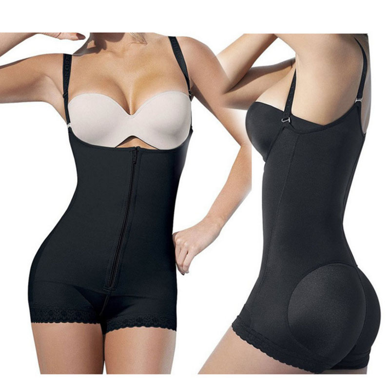 50pcs/lot Women sexy latex waist trainer corsets postpartum beam body jumpsuit with zipper 2 colors