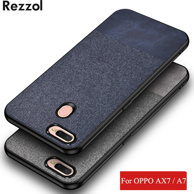 low priced 01bde a0c70 US $3.39 25% OFF|For OPPO A7 Case AX7 Cover Fabric Cloth Hard PC Back Cover  For OPPO AX7 A7 Rezzol original Shockproof Phone Case Fundas-in Fitted ...