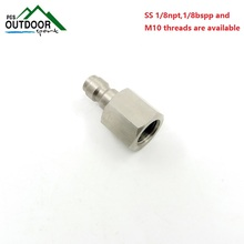 "Paintball Air Gun Airsoft Stainless Steel Male Quick Disconnect Female Threads 1/8 ""NPT free shipping"