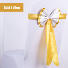 50pcs/lot Modern Luxury Conference/Outdoor Show Decorative Bow Tie Chair Sash For Wedding Party Banqut Chair Back Decor Cover