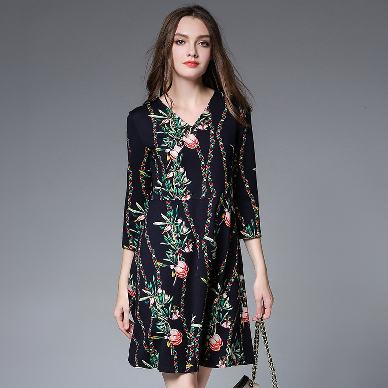 все цены на 2018 Black Elegant Dress Vestidos Loose Maternity Dress Casual Pregnancy Dress Print Plus Size Dress M-5XL Floral