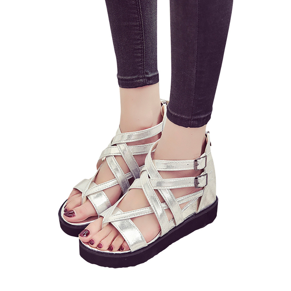 b939fa92105 Sandal Type  Ankle Strap Closure Type  Zip Outsole Material  PVC Insole  Material  Latex Pattern Type  Solid Fashion Element  Cross-tied