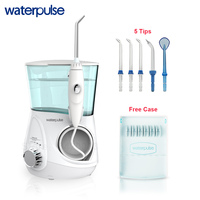 Waterpulse V600G Oral Irrigator Dental Flosser Dental Care 5 Jet Tips Oral Hygiene Water Flosser 700ML Capcity Teeth Cleaner