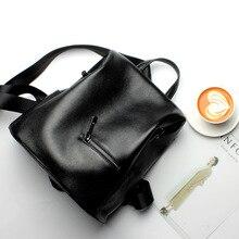 En qualityFashion tasarımcısı inek hakiki deri kadın sırt çantası İpli okul gençler için çanta kız kadın seyahat sırt çantası
