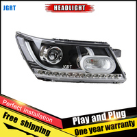 Car Style LED headlights for Fiat Freemont 2012 2014 for Freemont head lamp LED DRL Lens Double Beam H7 HID Xenon bi xenon lens