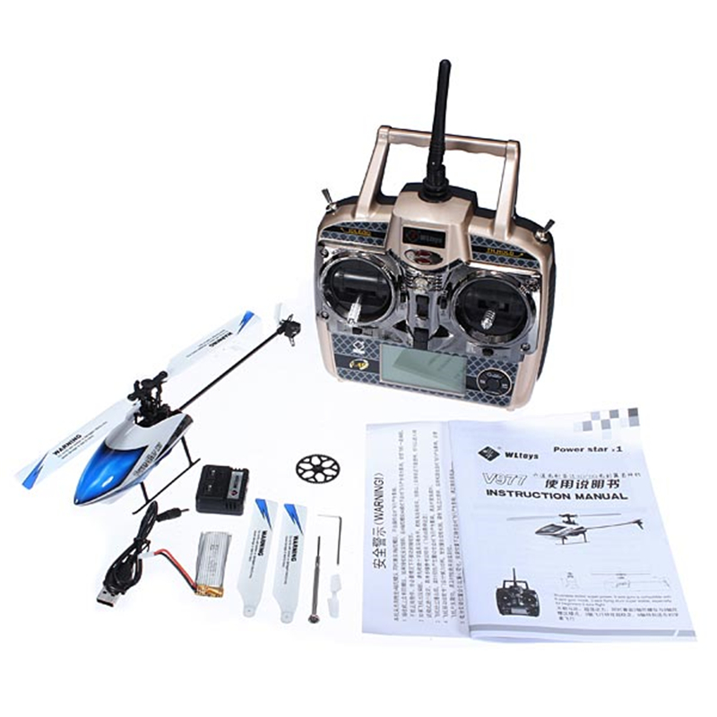 Venta caliente WLtoys V977 Power Star X1 6CH 2.4G Sin Escobillas Rc Helicóptero de Juguete Con Control Remoto