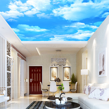 Custom size wallpaper blue sky mural ceiling wallpaper for Custom size wall mural
