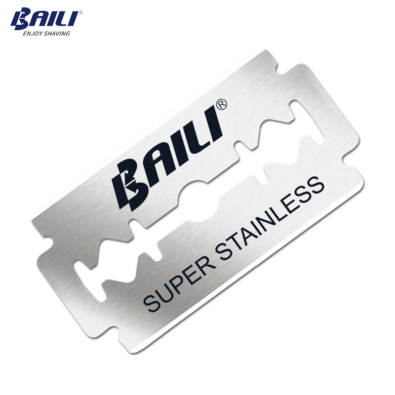 BAILI 100 Pcs/Lot Super Blue Platinum Replaceable Shaving Safety Shaver Razor Blades Stainless Steel Double Edge for Men BP003 4