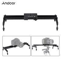 Andoer 40cm/ 15.7inch Portable Aluminum Alloy Camera Track Dolly Slider Stabilizer Rail System for Nikon Canon Sony DSLR Camera