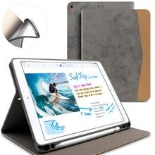 Мягкий чехол для iPad Pro 10.5 дюймов (Новинка 2017 года) из искусственной кожи Smart Cover с карандашницей Авто Режим сна/Пробуждение для Apple iPad Pro 10.5″
