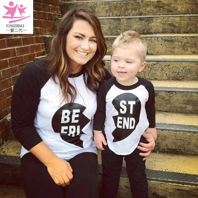 Mother and Daughter Clothes Best Friends T Shirt Matching ...
