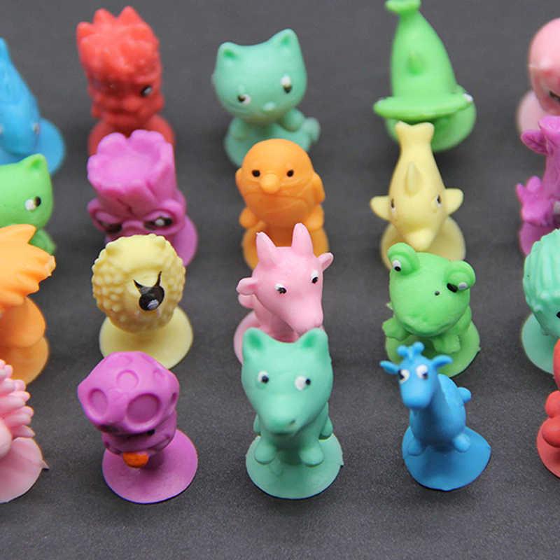 2019 New 50pcs/lot Good Cupule kids Cartoon Animal Action Figures Toys Sucker kids Mini Suction Cup Collector Capsule Model