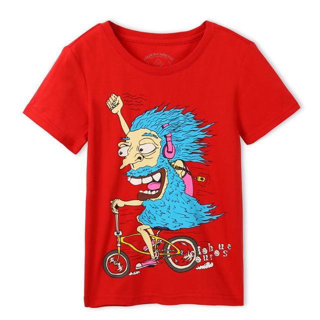 Frete grátis! Original projetado 100% algodão camisa dos desenhos animados t camisa de manga curta. Exclusivo