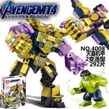 Avengers 4 Endgame Avengerss Ultimate Thanos Hulk Set Compatible Building Blocks Bricks Boy Toys B436 thanos vs hulk
