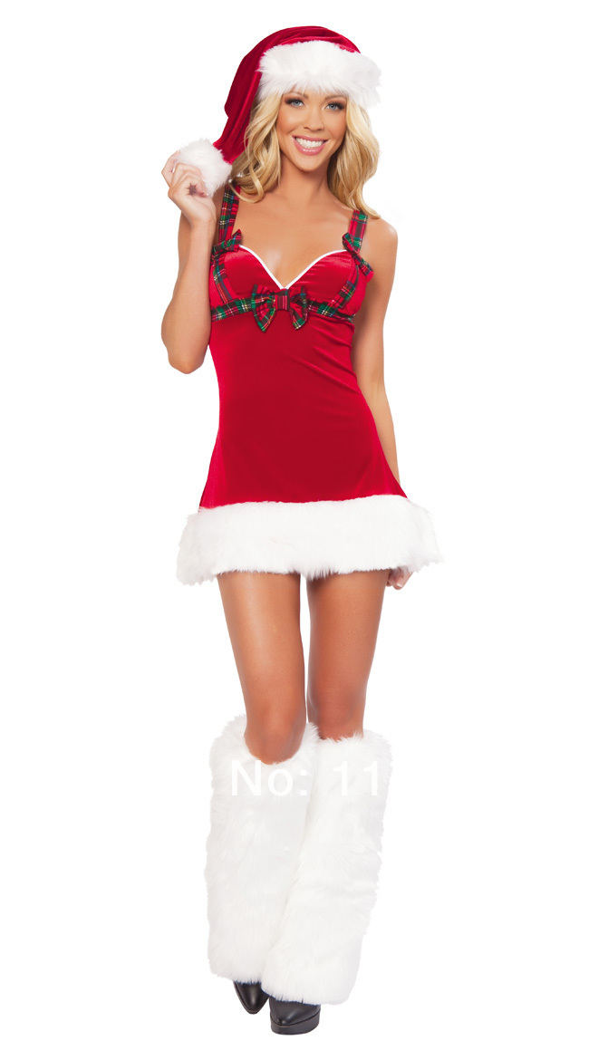 b3b6d52465d US $19.99 |New Sexy Adult Halterneck Cute Christmas Costumes Women Santa  Miss Cosplay Sexy Santa Claus Costumes for Christmas Party -in Holidays ...