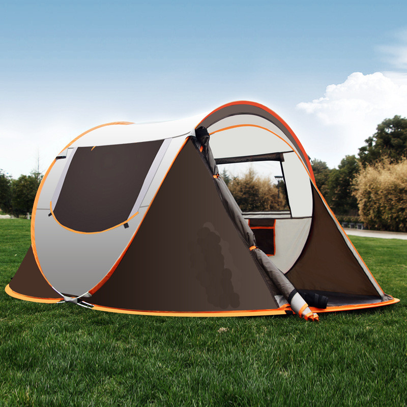 Hot Sale Full Automatic Outdoor Tent 3-4 Family Camping Rain Proof Quick-Opening Tent Camping Hiking Outdoor Tent yingtouman outdoor 3 5 person big family tent camping hiking tent camping accessories quick automatic opening