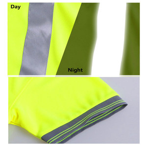 Image 5 - Night Work Reflective Safety Shirt Clothing Quick drying Short sleeved T shirt Protective Clothes for Construction Workwear