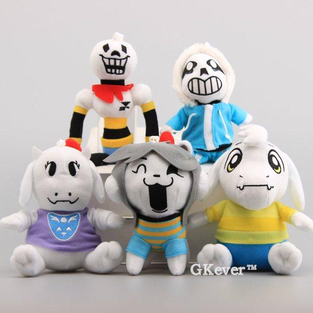 5 Estilos Brinquedos de Pelúcia Undertale Undertale Sans Papiro Asriel Toriel Temmie Chaveiro De Pelúcia Macia Stuffed Dolls 13-20 CM
