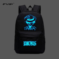 FVIP Free Shipping Cool Lumious Sword Art Online Backpack Japan Anime Printing School Bag For Teenagers