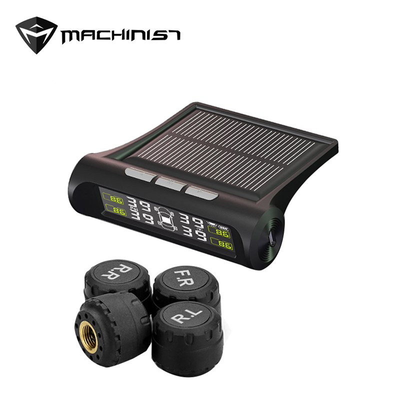 Solar Power Charging Car TPMS Tyre Pressure Monitoring Smarts
