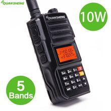 Quansheng TG-UV2 PLUS High Power 10W 5 Bands 136-174MHz/Police 350-390MH/400-470MHz 4000mAh 10KM Long Range 200CH Walkie Talkie