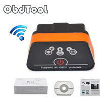 ObdTool iCar 2 Mini OBD2 OBD II ELM327 WiFi Car Diagnostic Scan Tool for IOS iPhone iPad PC with Switch Auto Sleep LR10