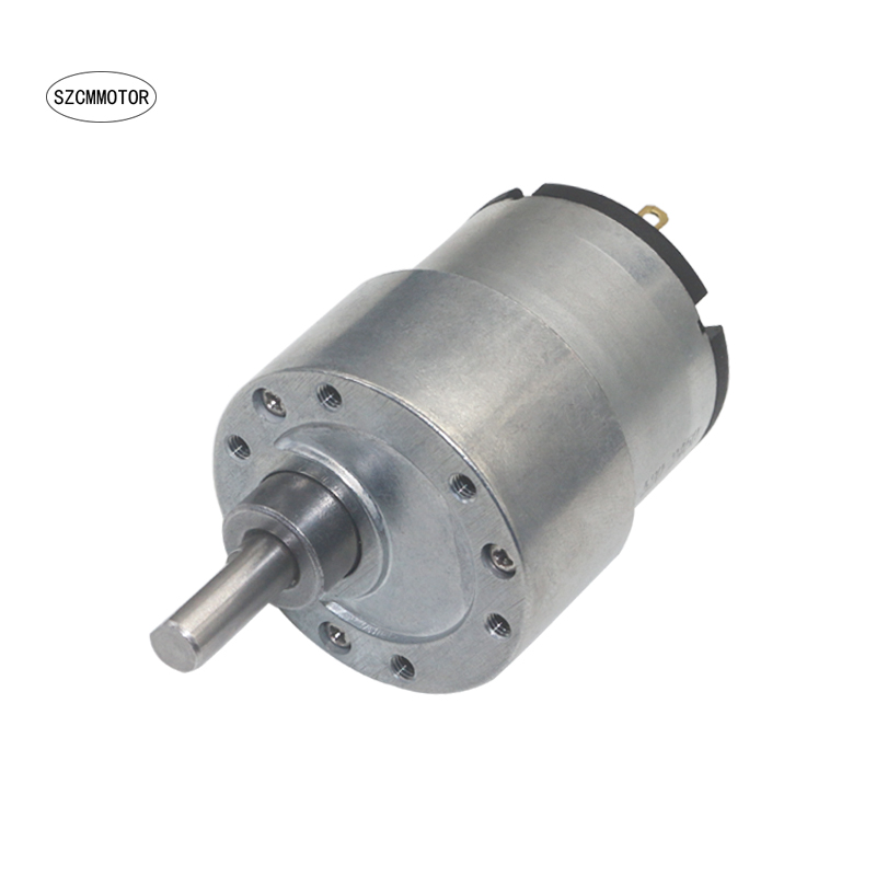 37mm Diameter Gearbox Geared Motor Eccentric shaft Metal Gear Gearmotor DC 12V 24V Low Speed Gear Motor