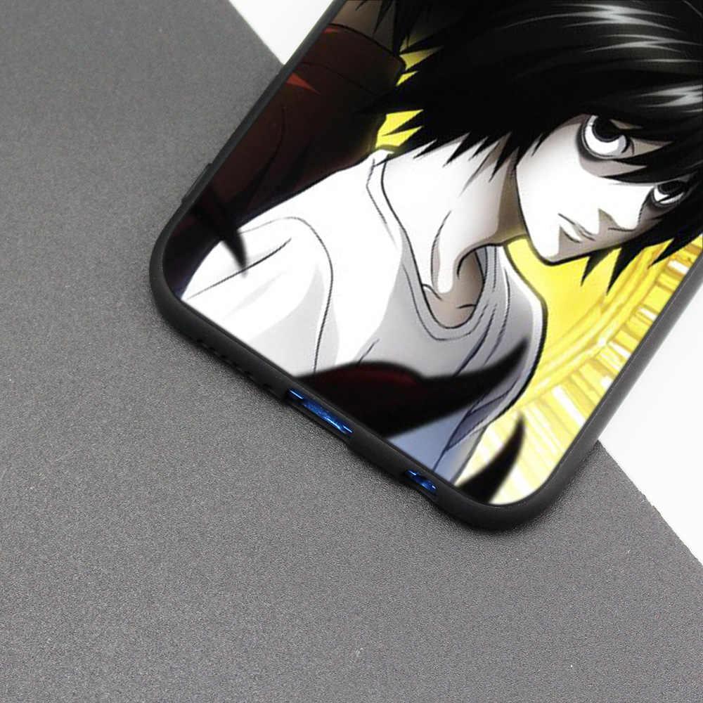 Couvercle de boitier en silicone pour Huawei P20 P10 P9 P8 Lite Pro 2017 P Smart + 2019 Nova 3i 3E coques de téléphone Death Note anime
