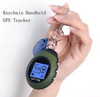 APRICOTCAR CAR Vehicle Sport Handheld Keychain Mini GPS Tracker Tracking Device Travel Portable Keychain Locator Pathfinding