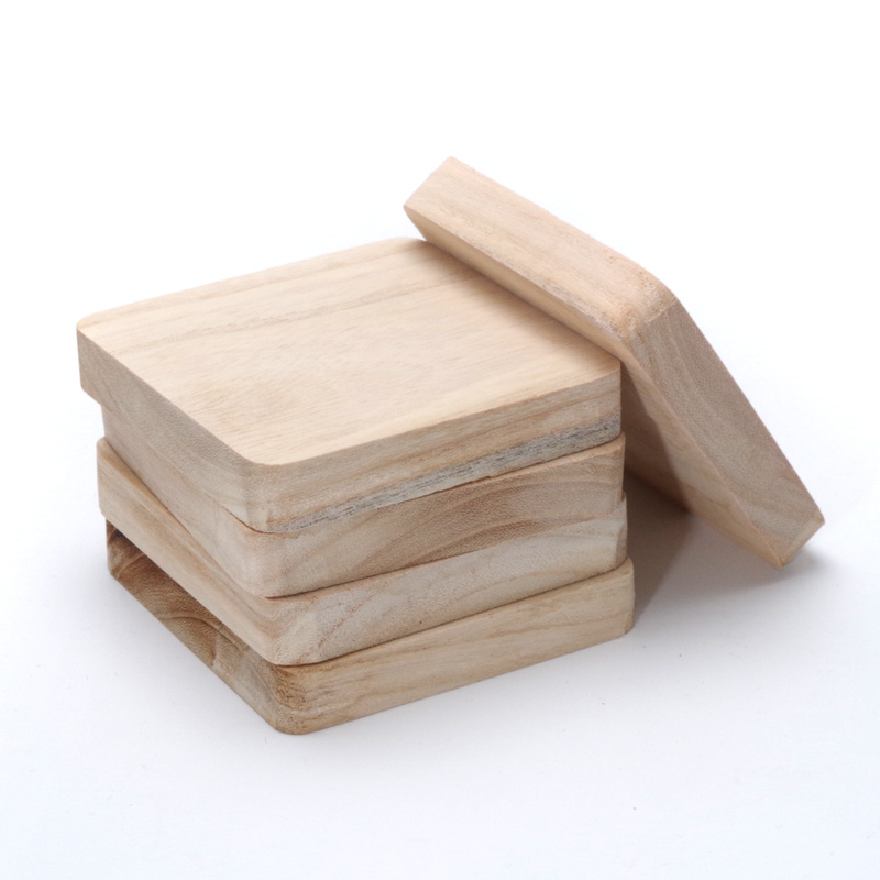 2pcs 10cm unfinished wooden block square carving solid for Where to buy wood blocks for crafts