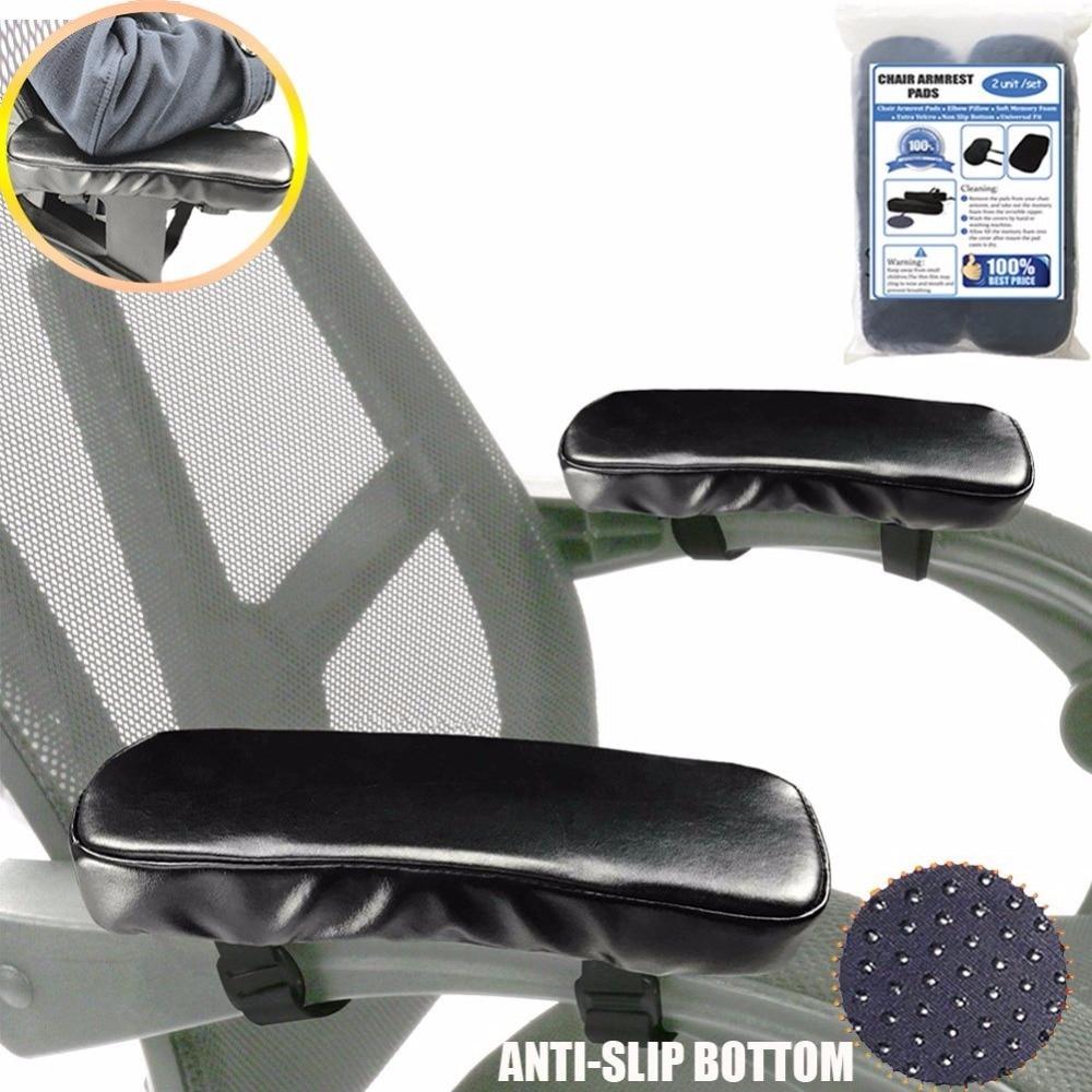 Cushion Armrest Chair Protectot Black Soft 2pcs Pillow Pad Support-Pads Brace Elbow Memory-Foam