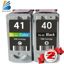 2PK Para Canon PG 40 CL41 PG40 PG-40 CL-41 Cartuchos CL41Ink para PIXMA MX310 MP150 MP160 MP140 MP450 MP170 IP1700 IP1800 IP2600