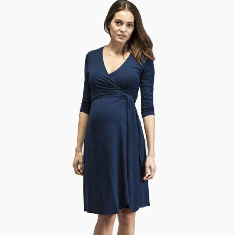 Vêtements de maternité Lycra robe de maternité belle robe de soirée pour les femmes enceintes élégant printemps dames Vestidos