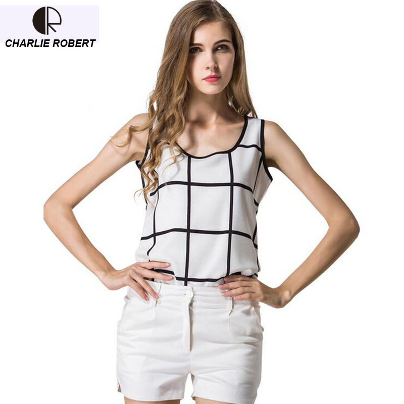 CR New 2017 Chiffon Tank Top Sleeveless Summer T-shirt Free Shipping WT1131
