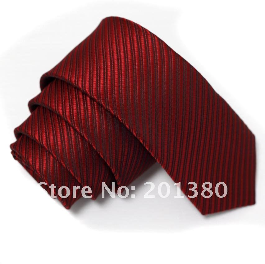 2017 fashion polyester solid color narrow ties for men
