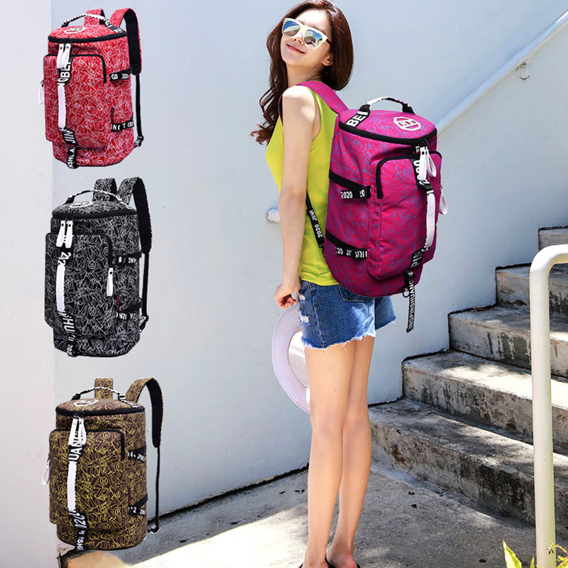 Canvas Sport Bag Training Gym Bag Waterproof Sports bolsa Gym Bag Backpack For Women Fitness Yoga Travel Luggage Bags