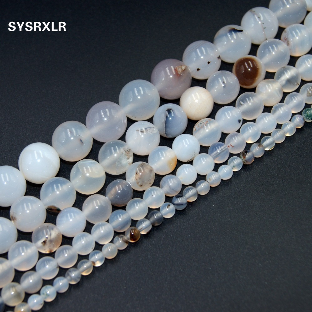 Beads Wholesale Charm Natural Stone Agat Beads Diy Bracelet Necklace For Jewelry Making 4/ 6/ 8/10/12 Mm Choose Your Size