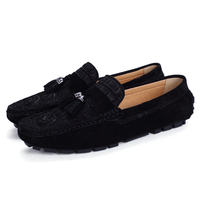 Plus Size 39 46 Winter Tassel Style Suede Leather Suede Loafers Men Flats Moccasins Man