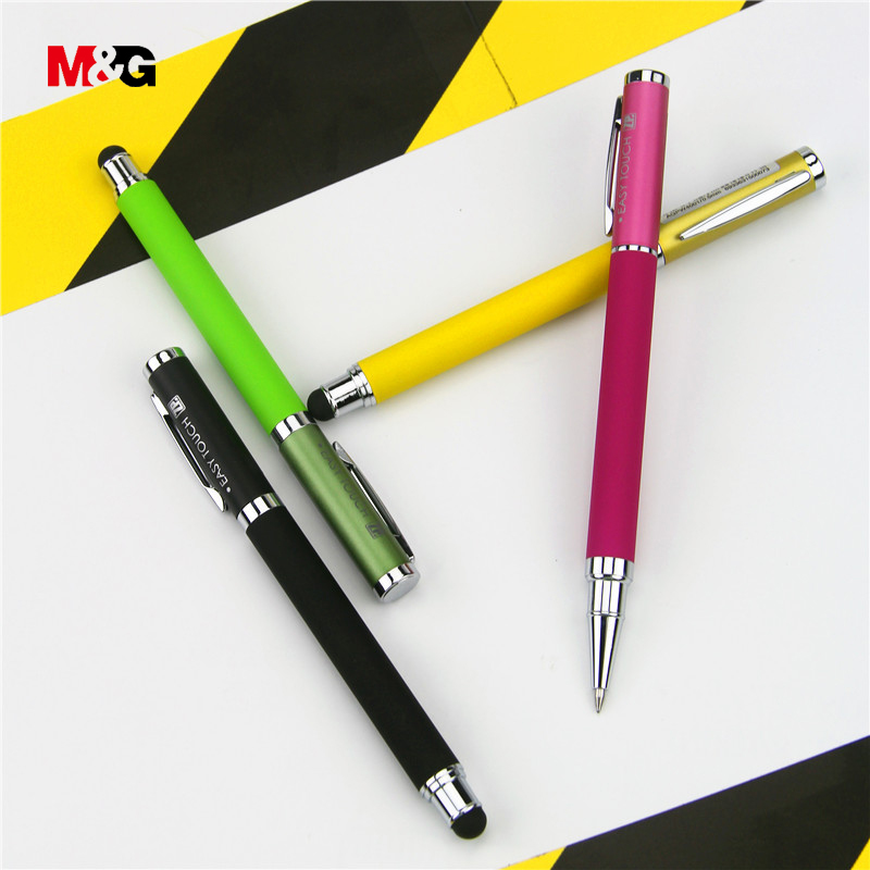 M&G Quality screen touch gel pen for school supplies brand colored elegant luxury sign gift pens for writing office stationery jinhao rare golden double dragon pattern roller ball pen luxury stationery school office supplies brand writing gift pens