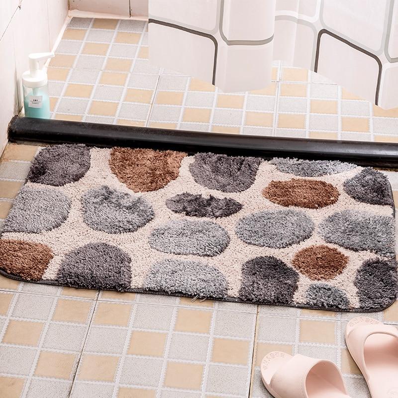 Imitation Stones Carpet Bathroom Mat
