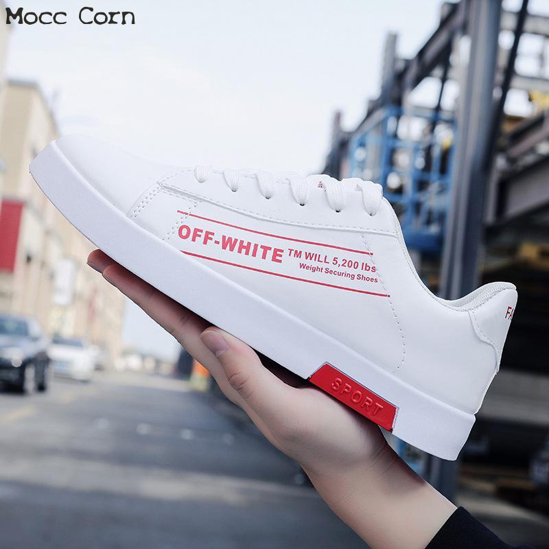 Lettre Marque Masculin Formateurs Baskets Hommes Tennis blanc Sneakers rouge Pu Automne Noir Hiver Blanc Appartements De En Cuir Noir Chaussures Casual Basses ZPywFcqB