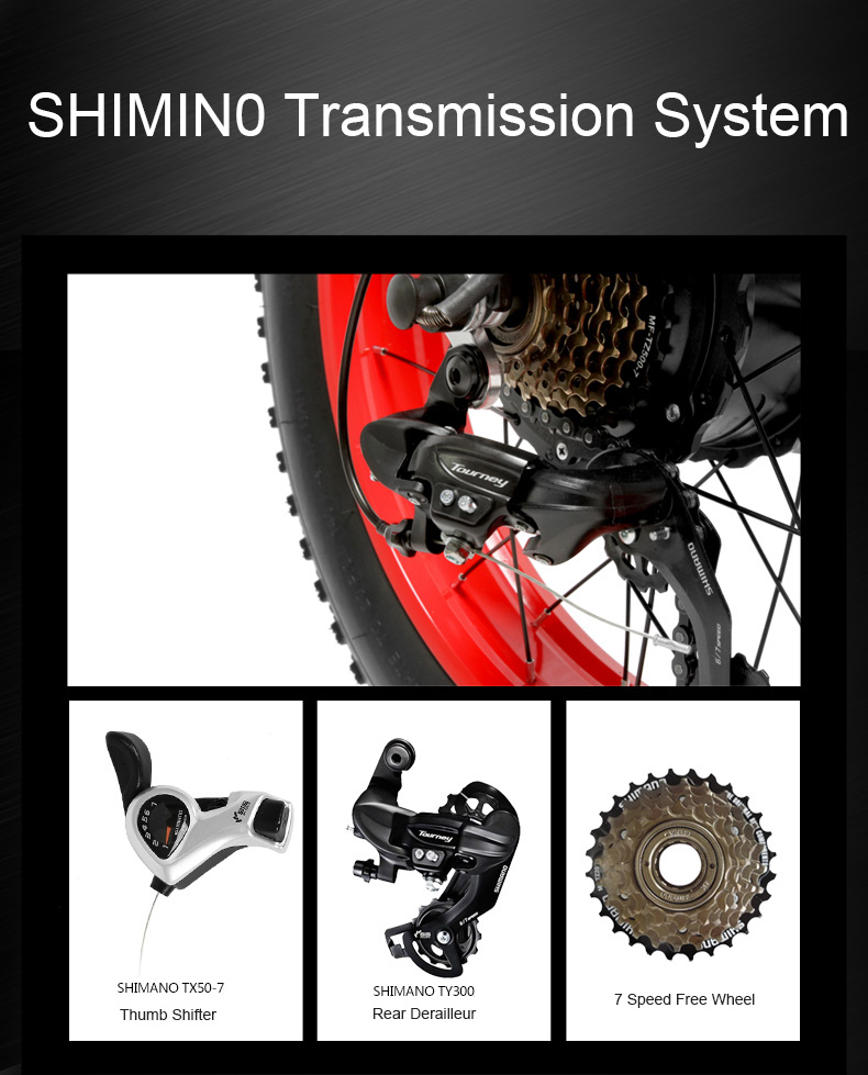 HTB13DwkajnuK1RkSmFPq6AuzFXaU 20 Inch Folding Mountain Bike 500W 48V 14.5Ah Lithium Battery Fat Bike Electric Bike 5 Level Pedal Assist Suspension Fork