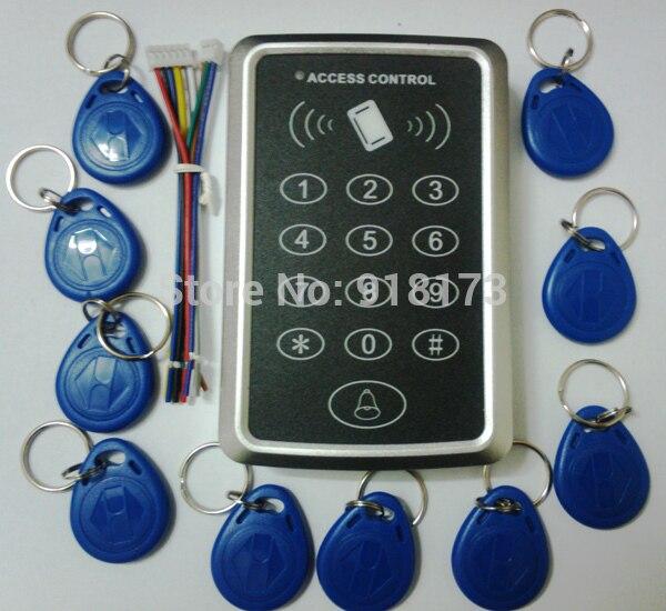 Prix spécial Livraison gratuite + 10 rfid tag + RFID Carte De Proximité Système de Contrôle D'accès RFID/EM Clavier Carte Contrôle d'accès Porte Ouvre