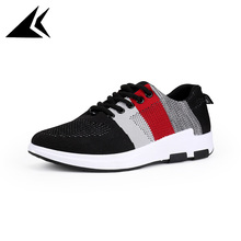 Spring 2017 Air Mesh Breathable Sneakers Durable Walking Lace-up Male Sport Running Shoes