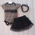 1 Set Newborn Infant Baby's Sets Girl Polka Dot Headband + Romper + TUTU Skirt Outfit Baby