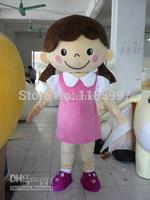 HOT SALE Special Accept Custom pink dress baby girl Halloween animal Mascot Costume Fancy Dress Animal free shipping